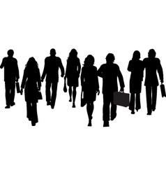 business people walking away vector image