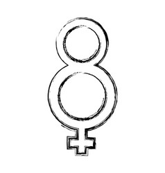 Female gender symbol vector