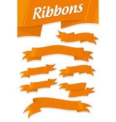 ORANGE RIBBONS vector image