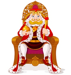King on the throne vector