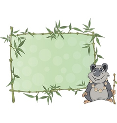 Panda with blank sign cartoon vector
