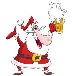 drunk santa claus vector image