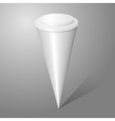 Blank ice cream cone package isolated on gray vector