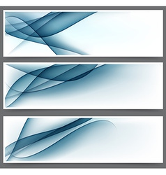 Blue abstract banners vector
