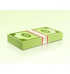 dollar bills vector image