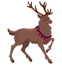 Cartoon christmas reindeer vector