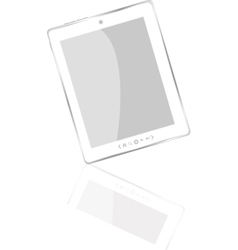 White abstract tablet pc vector