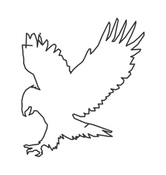 Eagle outline icon vector