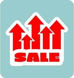 Sale grow up sticker vector