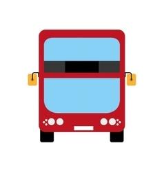 Red bus icon united kingdom design vector