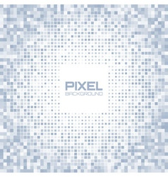 Abstract blue gray light pixel background vector