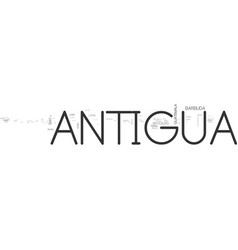 Antigua yacht text word cloud concept vector