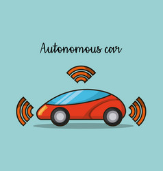 Autonomous car wireless sensor signal future vector