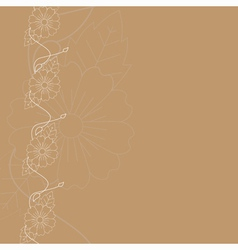 background with floral border vector image