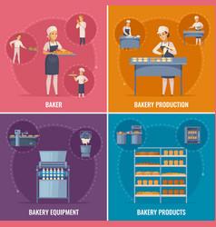 Bakery cartoon design concept vector