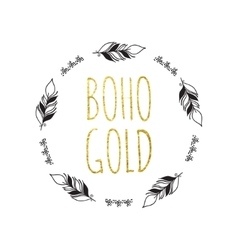 Boho Logo Card vector image vector image