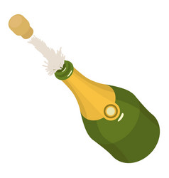 Bottle champagne icon isometric 3d style vector