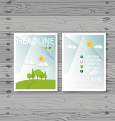 Brochure Flyer design Layout template Ecology vector image