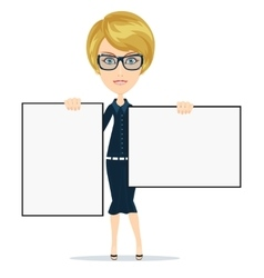 Business woman giving a presentation vector image vector image