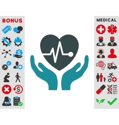 Cardiology Icon vector image vector image