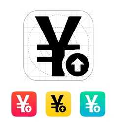 Chinese yuan exchange rate up icon vector