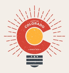 Colorado t shirt with light rays vector