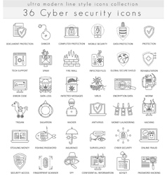 Cyber security technology ultra modern vector