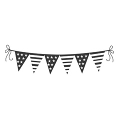 Decorative pennants theme design icon vector image vector image