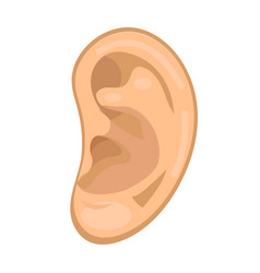 Ear icon flat style anatomy medicine concept vector
