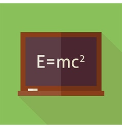 Flat Science and Education Blackboard with long vector image