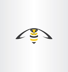 flying wasp icon vector image vector image