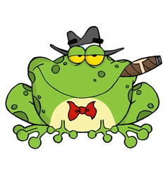 Frog Smoking A Cigar vector image