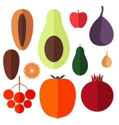 Fruits Icon Set vector image vector image