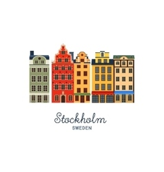 Gamla stan - old town of stockholm sweden vector