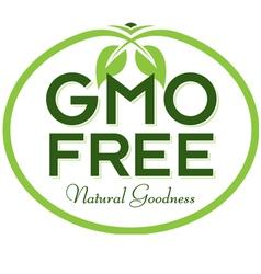 Gmo free natural goodness vector