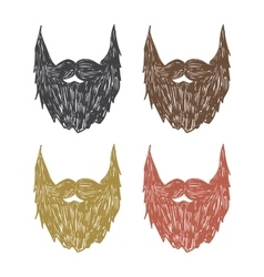 hand drawn beard vector image vector image