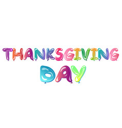 Happy thanksgiving day banner with ballons vector