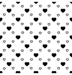 Heart black seamless pattern vector image