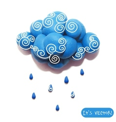 Icon of plasticine cloud vector image vector image
