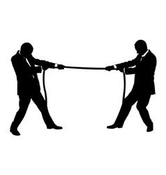 men pulling on rope vector image vector image