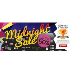 Midnight sale 1500x600 pixel vector