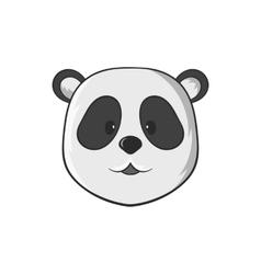 Panda icon black monochrome style vector image vector image