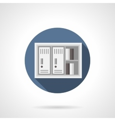 Paper documents locker flat color icon vector image