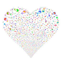 retort fireworks heart vector image