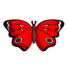 Sangaris butterfly icon cartoon style vector