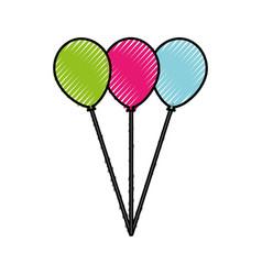 Scribble balloons cartoon vector