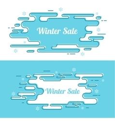 Set of festive winter banner vector