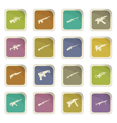 Set of hand weapons vector