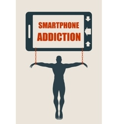 Smartphone addiction bad lifestyle concept vector