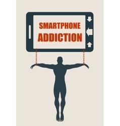 Smartphone addiction bad lifestyle concept vector image